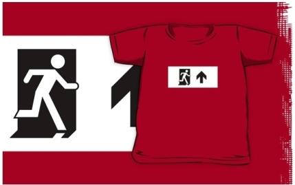 Running Man Exit Sign Kids T-Shirt 79