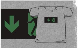 Running Man Exit Sign Kids T-Shirt 81