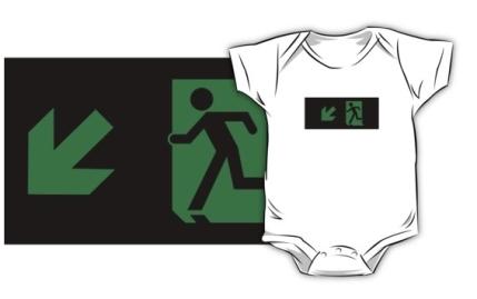 Running Man Exit Sign Kids T-Shirt 82