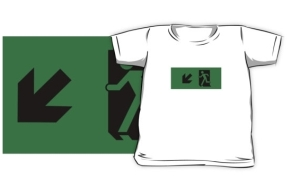 Running Man Exit Sign Kids T-Shirt 83