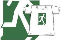 Running Man Exit Sign Kids T-Shirt 84