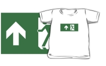 Running Man Exit Sign Kids T-Shirt 85