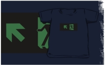 Running Man Exit Sign Kids T-Shirt 86