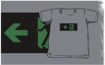 Running Man Exit Sign Kids T-Shirt 87