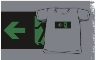 Running Man Exit Sign Kids T-Shirt 87