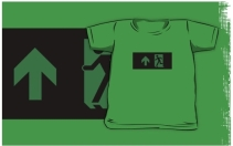 Running Man Exit Sign Kids T-Shirt 88