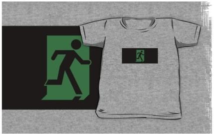 Running Man Exit Sign Kids T-Shirt 89