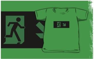 Running Man Exit Sign Kids T-Shirt 91