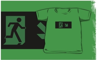 Running Man Exit Sign Kids T-Shirt 91