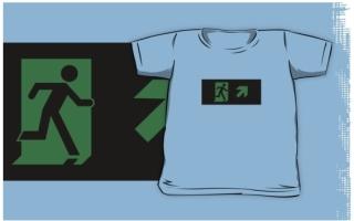 Running Man Exit Sign Kids T-Shirt 92