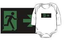 Running Man Exit Sign Kids T-Shirt 93