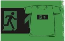 Running Man Exit Sign Kids T-Shirt 94