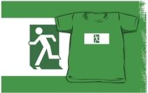 Running Man Exit Sign Kids T-Shirt 95