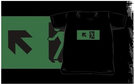 Running Man Exit Sign Kids T-Shirt 97