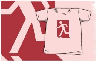 Running Man Exit Sign Kids T-Shirt 98