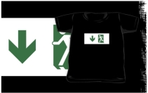 Running Man Exit Sign Kids T-Shirt 99