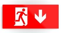 Running Man Exit Sign Printed Metal 10