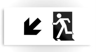 Running Man Exit Sign Printed Metal 100
