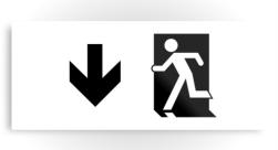 Running Man Exit Sign Printed Metal 101