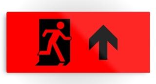 Running Man Exit Sign Printed Metal 103