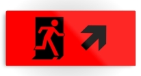 Running Man Exit Sign Printed Metal 105