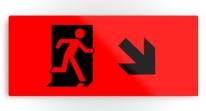 Running Man Exit Sign Printed Metal 106