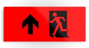 Running Man Exit Sign Printed Metal 109