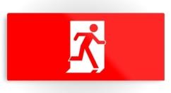 Running Man Exit Sign Printed Metal 11