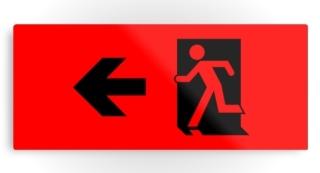 Running Man Exit Sign Printed Metal 110