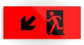 Running Man Exit Sign Printed Metal 112
