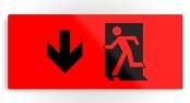 Running Man Exit Sign Printed Metal 113