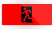 Running Man Exit Sign Printed Metal 114