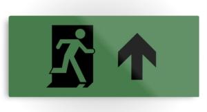 Running Man Exit Sign Printed Metal 115