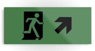 Running Man Exit Sign Printed Metal 117