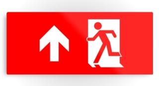 Running Man Exit Sign Printed Metal 12