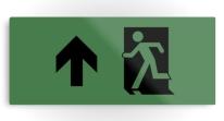 Running Man Exit Sign Printed Metal 120