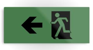 Running Man Exit Sign Printed Metal 121