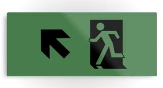 Running Man Exit Sign Printed Metal 122