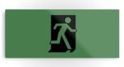 Running Man Exit Sign Printed Metal 125