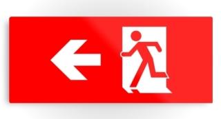 Running Man Exit Sign Printed Metal 13
