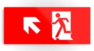 Running Man Exit Sign Printed Metal 14