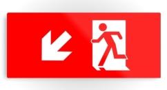 Running Man Exit Sign Printed Metal 15
