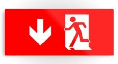 Running Man Exit Sign Printed Metal 16