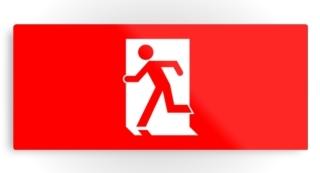 Running Man Exit Sign Printed Metal 17