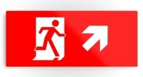 Running Man Exit Sign Printed Metal 18