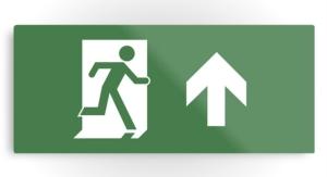 Running Man Exit Sign Printed Metal 19