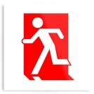 Running Man Exit Sign Printed Metal 2