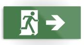 Running Man Exit Sign Printed Metal 20