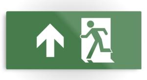 Running Man Exit Sign Printed Metal 25