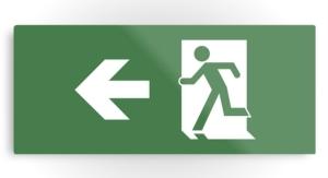 Running Man Exit Sign Printed Metal 26